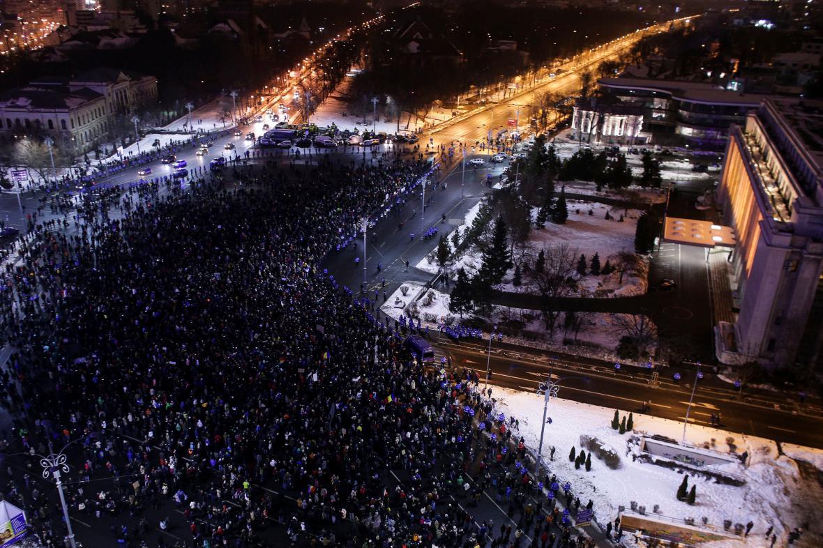 Protivládní protesty v Rumunsku