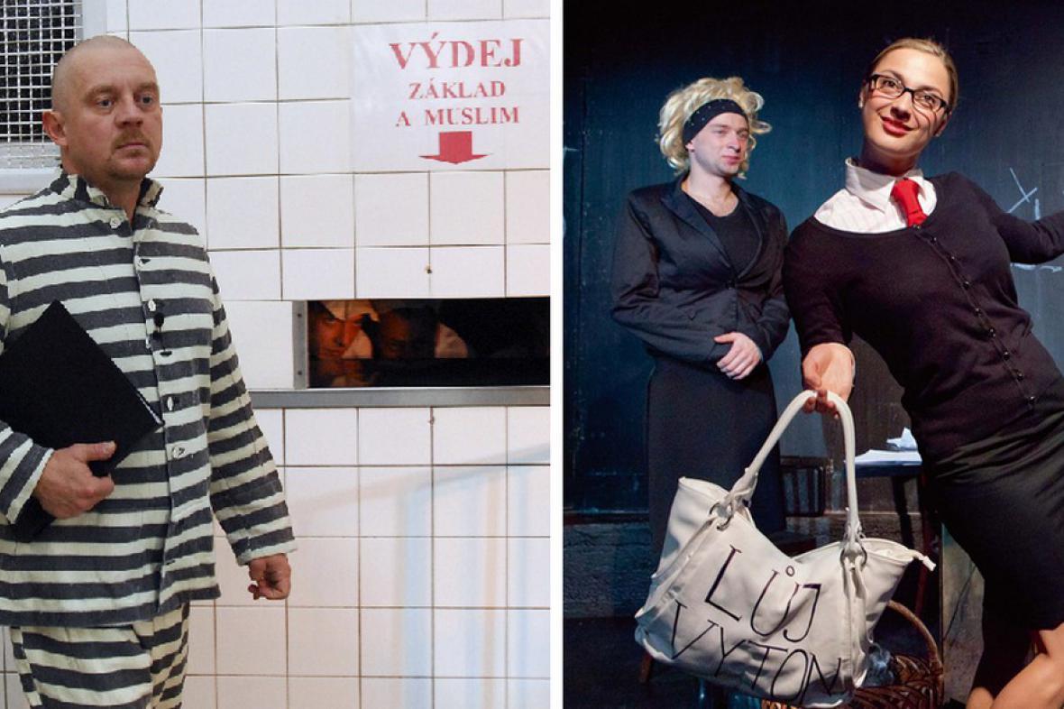 Politický kabaret: Ivánku, kamaráde (vlevo) a Blonďatá bestie