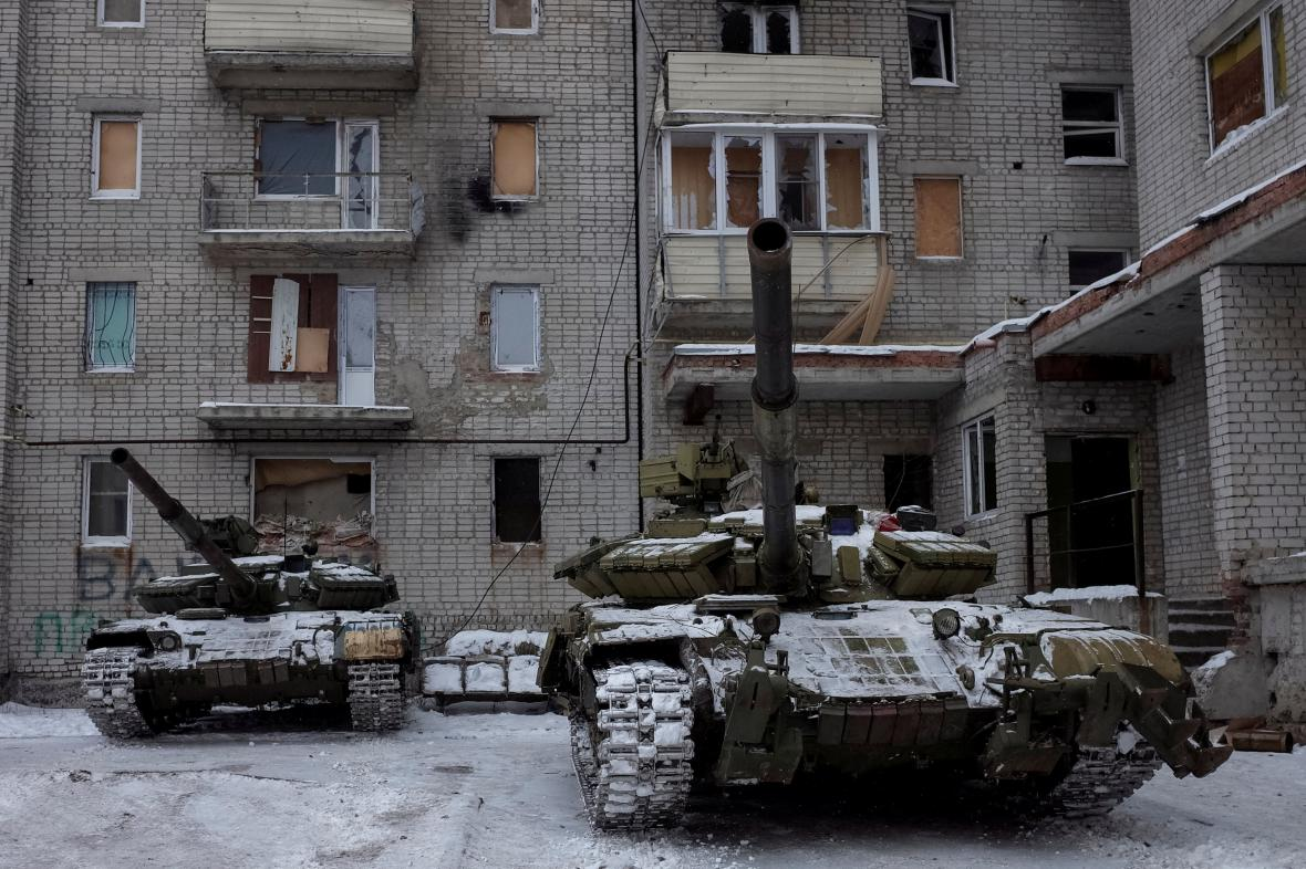 Tanky na východě Ukrajiny