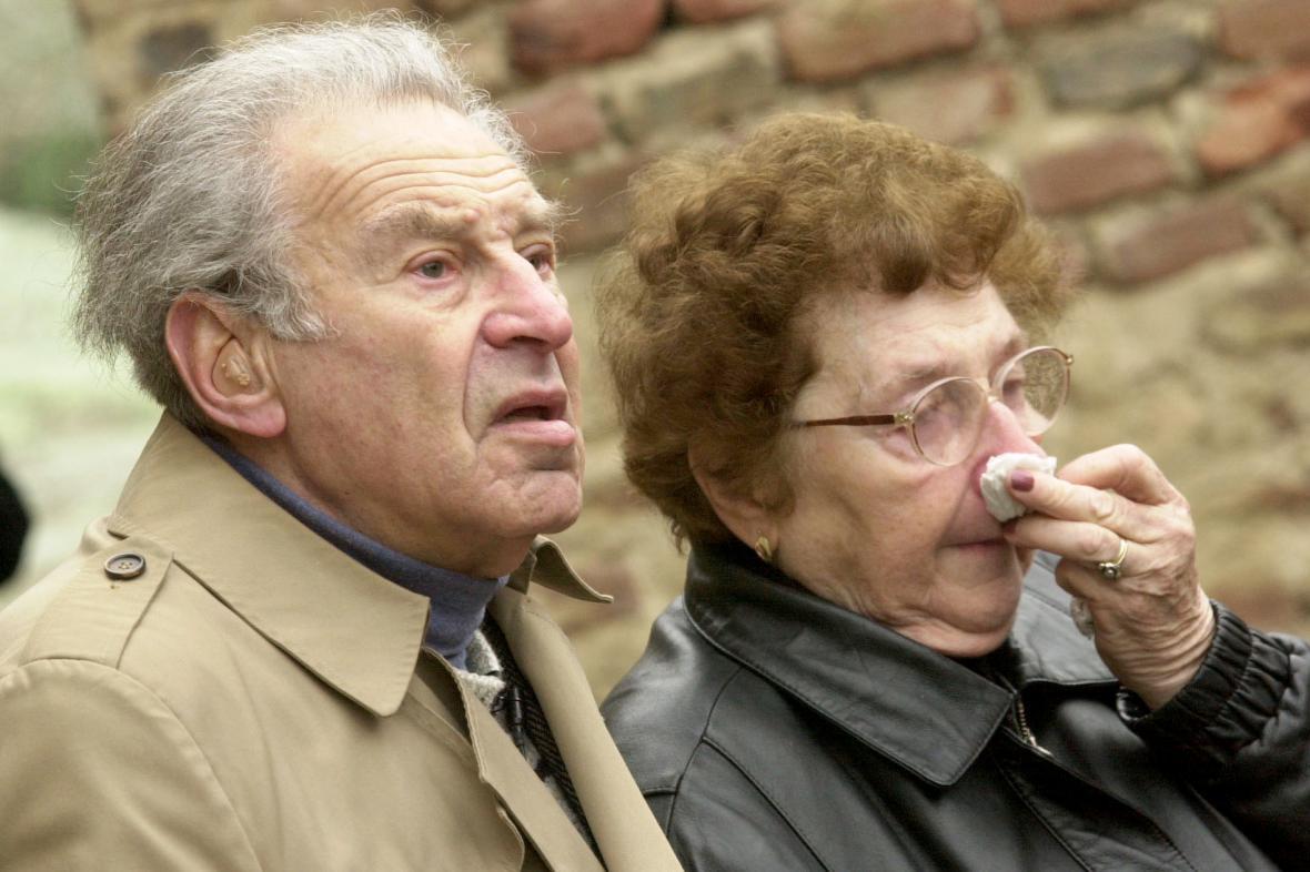 Edgar Krása s manželkou Hanou