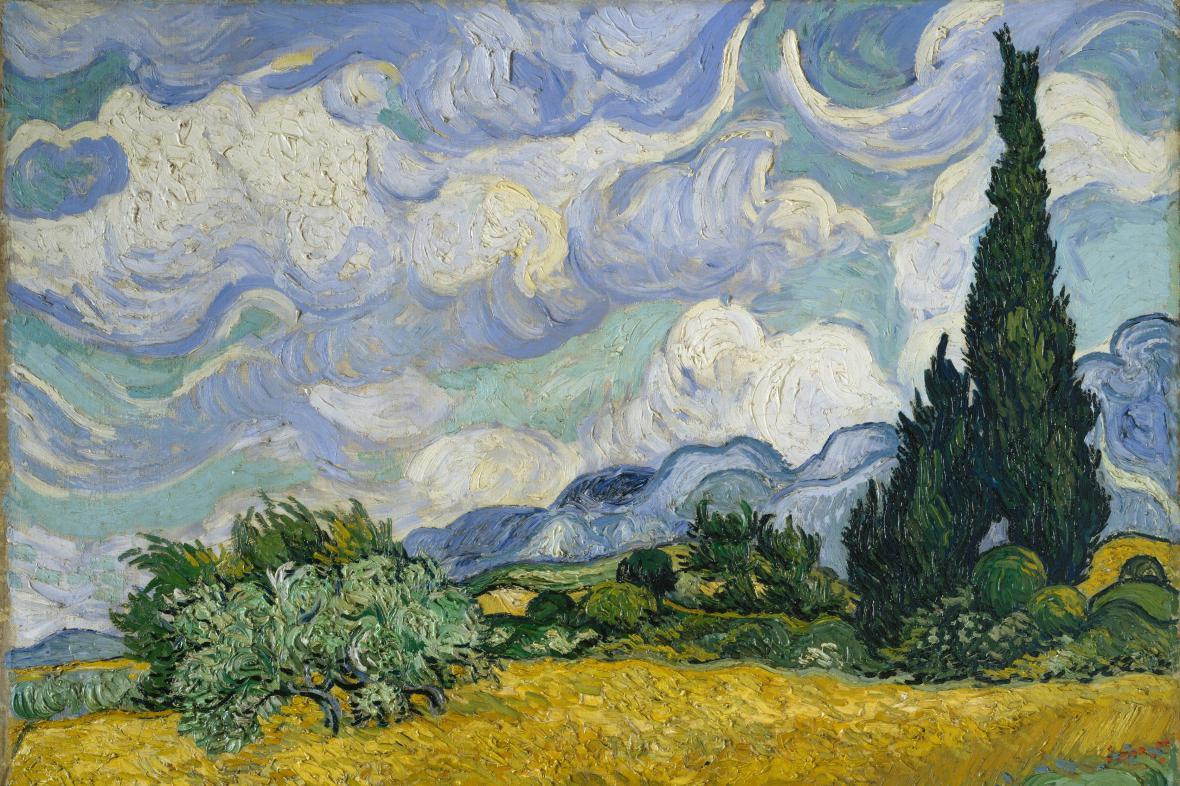 Vincent Van Gogh / Pšeničné pole s cypřiši