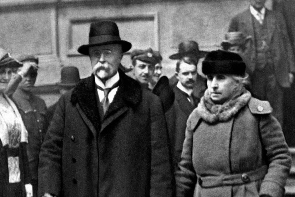 T. G. Masaryk s manželkou Charlottou Garrigue Masarykovou