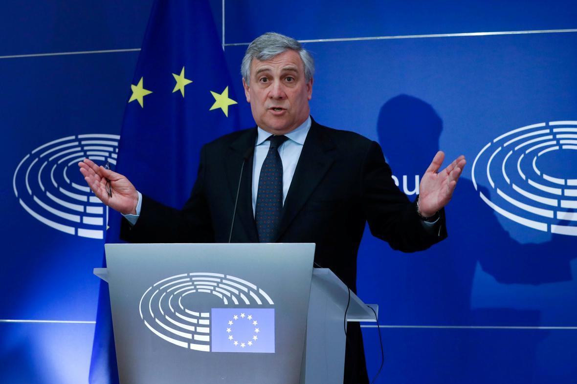 Předseda Evropského parlamentu Antonio Tajani