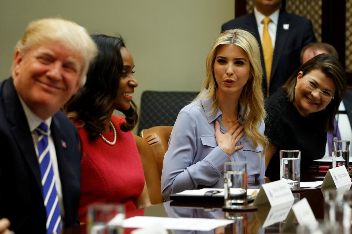 Ivanka Trumpová s prezidentem