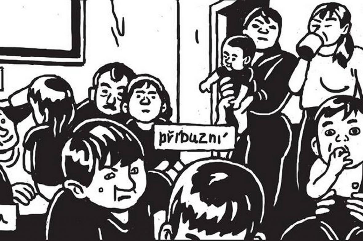 Z výstavy komiksů Nejisté domovy