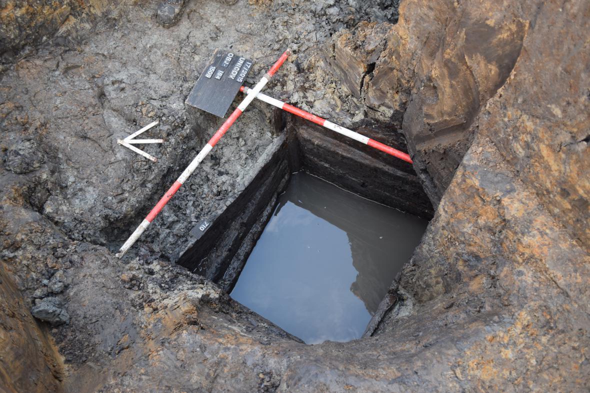 Studna nalezená v Uničově