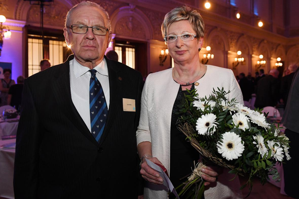 Manažeři roku 2016 Marta Nováková a Emil Beber