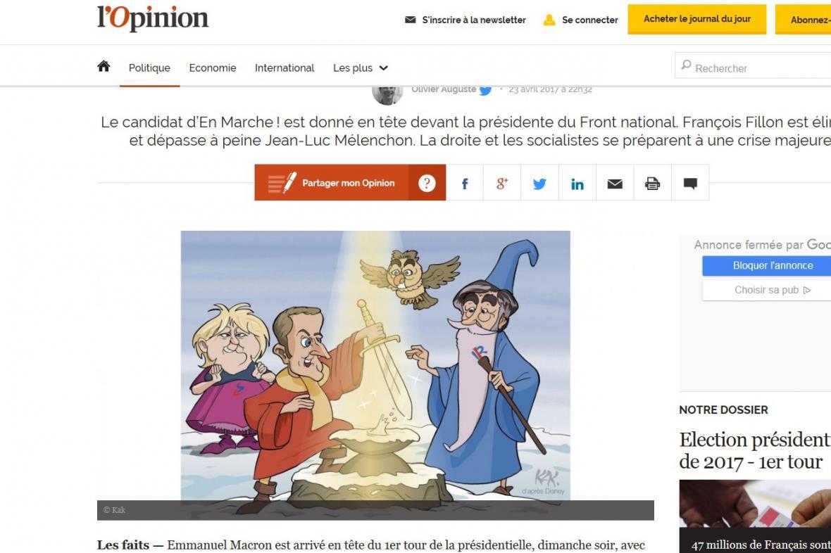 Reakce médií na postup Macrona s Le Penovou