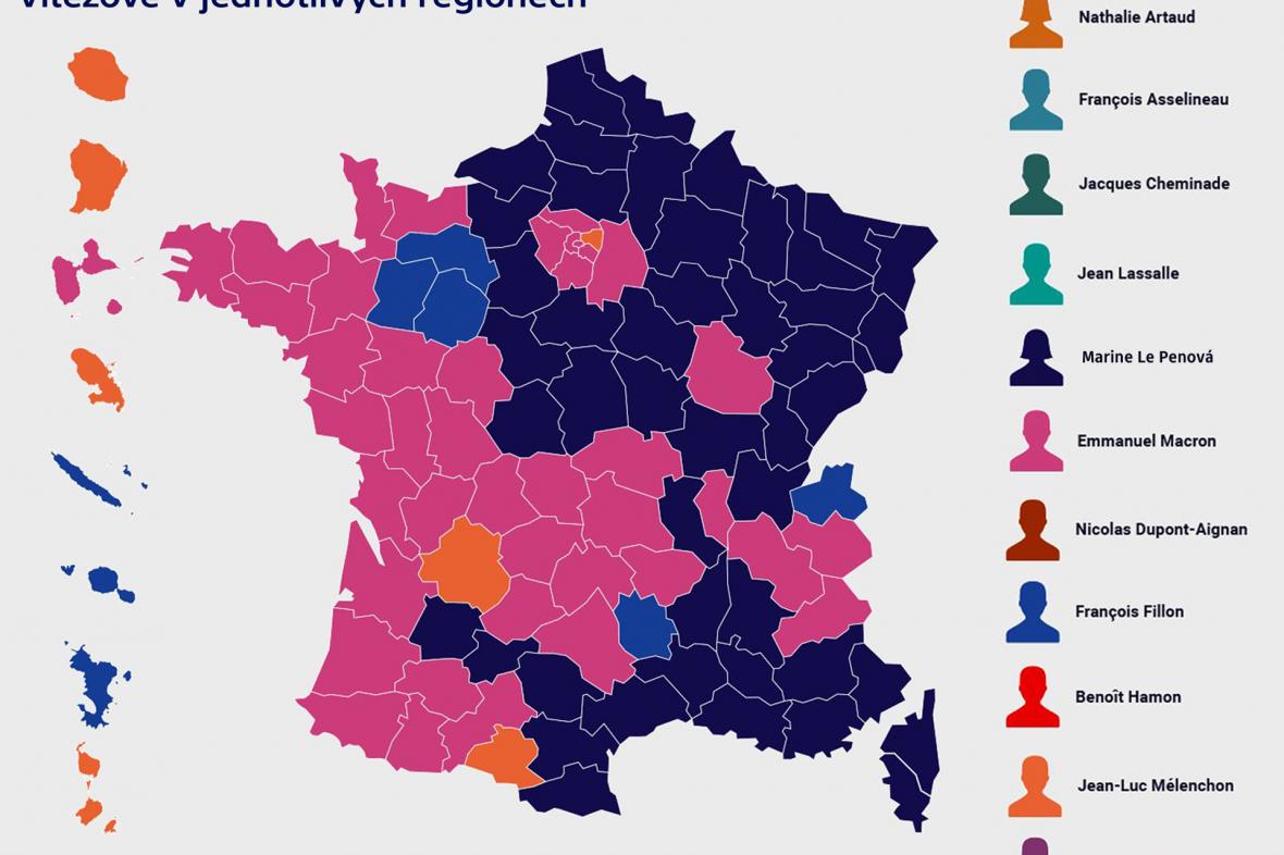 Výsledky 1. kola francouzských prezidentských voleb