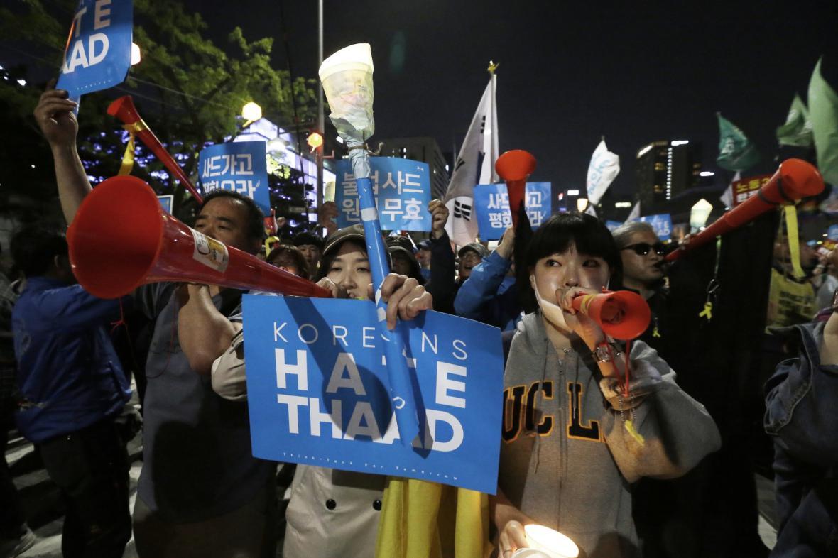 Protesty proti americkému štítu v Jižní Koreji