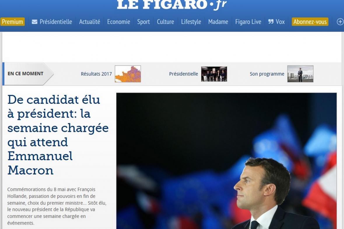 Le Figaro o vítězství Macrona