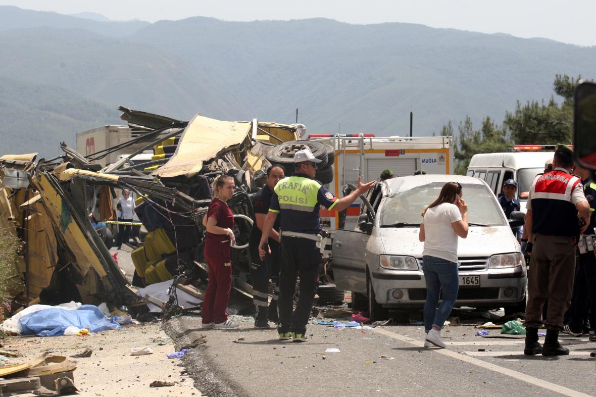 Nehoda autobusu v Turecku