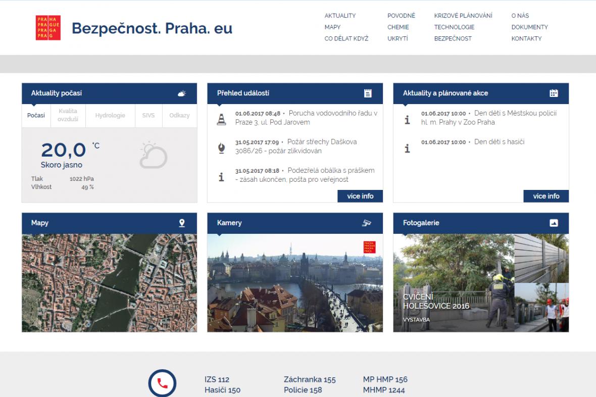 Bezpečnostní stránky Prahy
