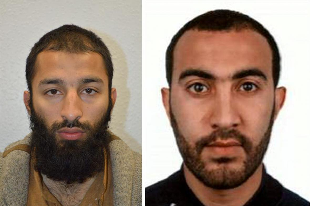 Khuram Shazad Butt (vlevo) a Rachid Redouane (vpravo)