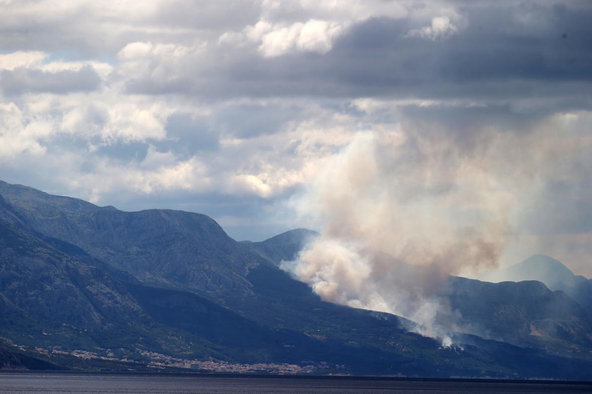 Požár lesů v Chorvatsku