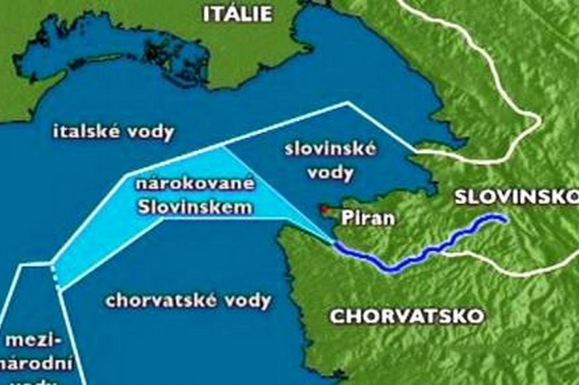 Mapa sporného území