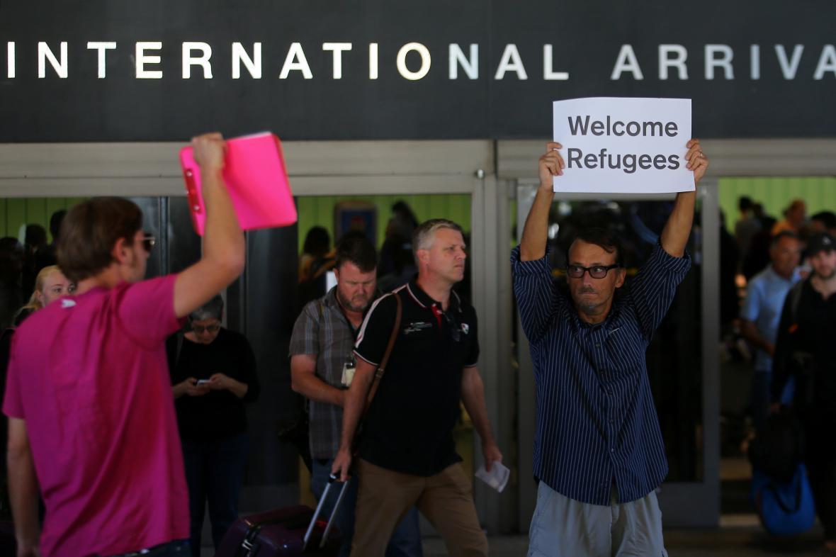 Protest proti Trumpovu imigračnímu dekretu