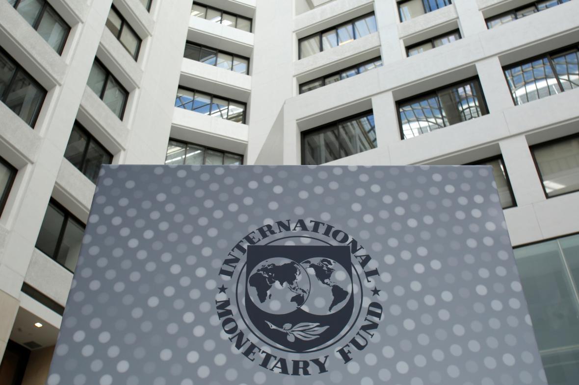 Logo MMF ve washingtonském sídle organizace