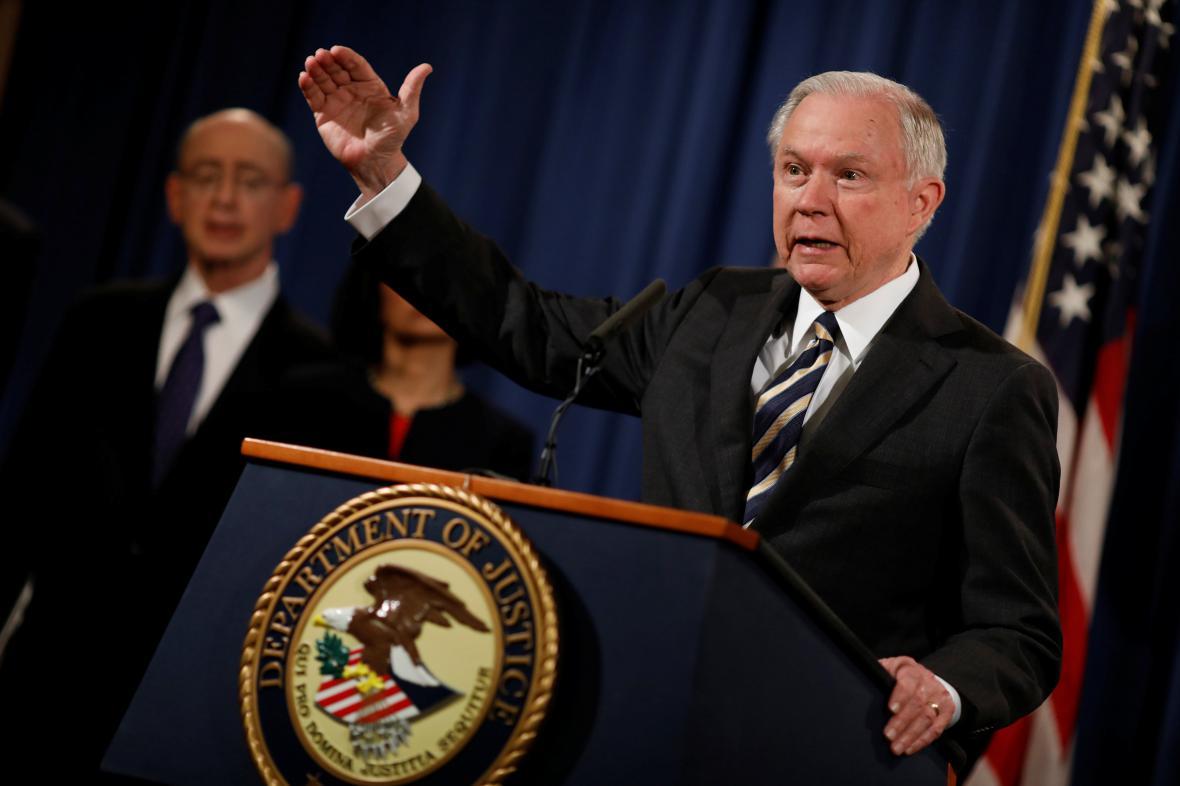Americký ministr spravedlnosti Jeff Sessions