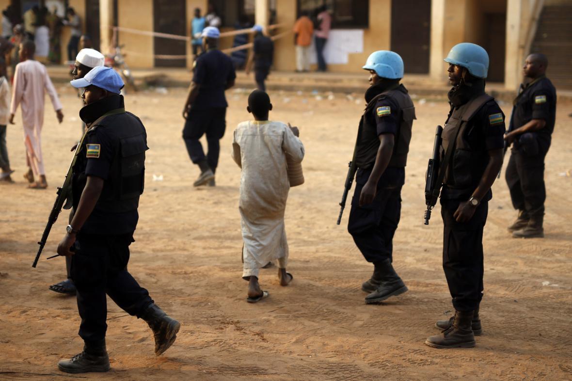 Modré přilby ve Středoafrické republice