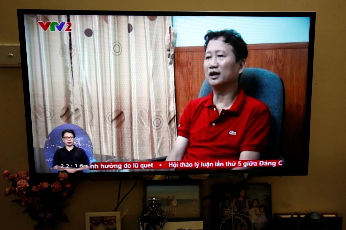 Trinh Xuan Thanh ve vietnamské státní televizi