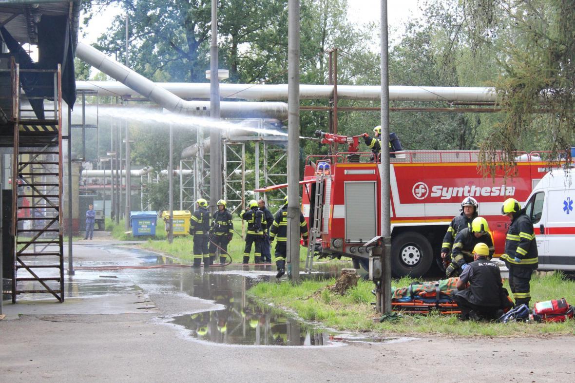 Výbuch v pardubické Explosii zranil tři lidi