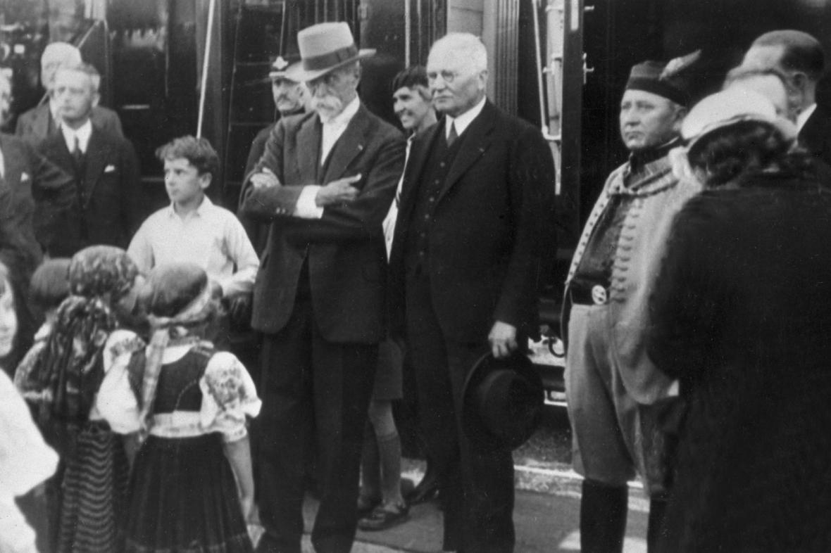 Vavro Šrobár (vpravo) a T. G. Masaryk
