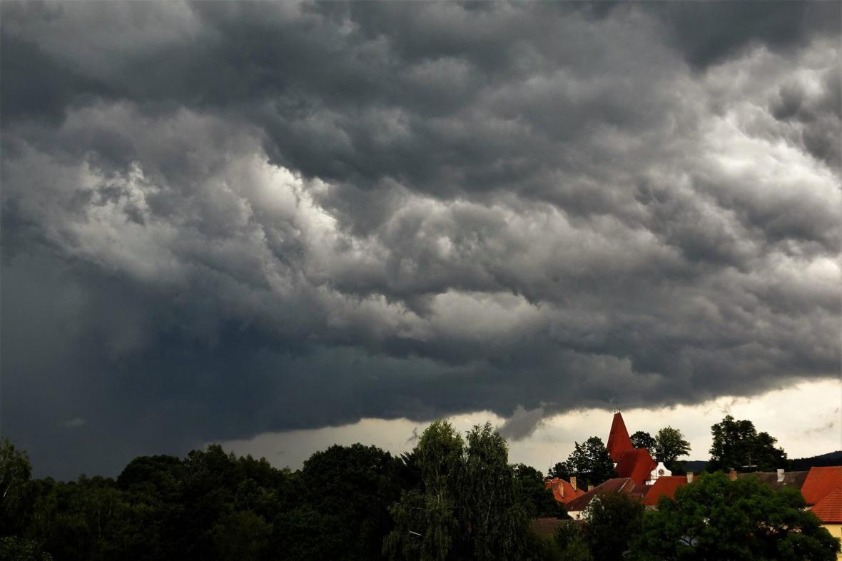 Bouře v Novohradských horách