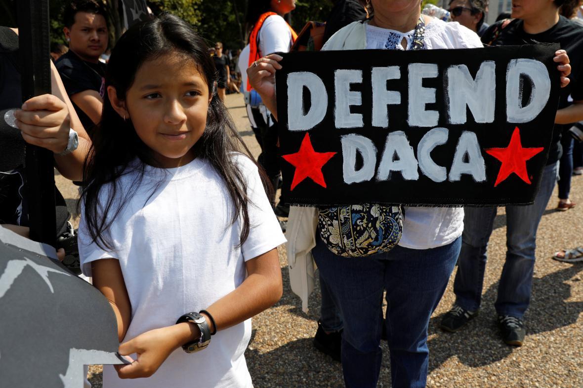 Migranti protestují proti zrušení programu DACA