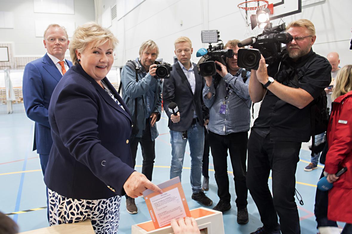Norská premiérka Erna Solbergová