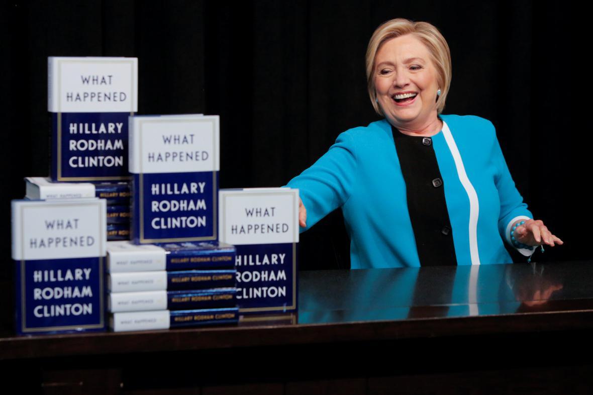 Hilary Clintonová se svou novou knihou Co se stalo