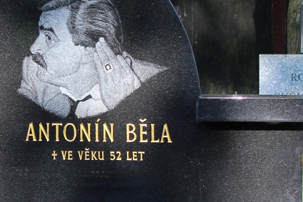 Náhrobní kámen Antonína Běly