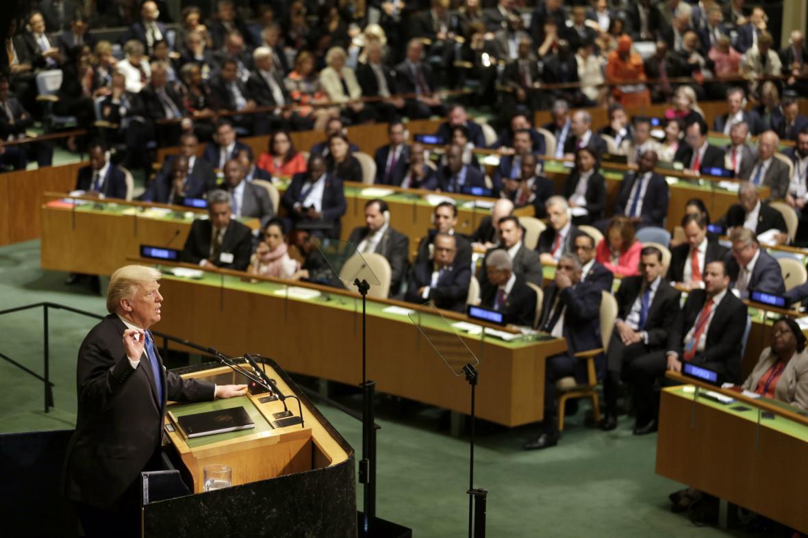 Trumpův projev na zasedání Valného shromáždění OSN