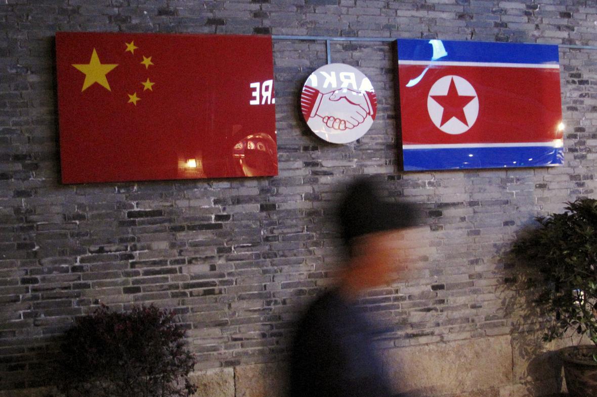 Vlajka Čína a KLDR