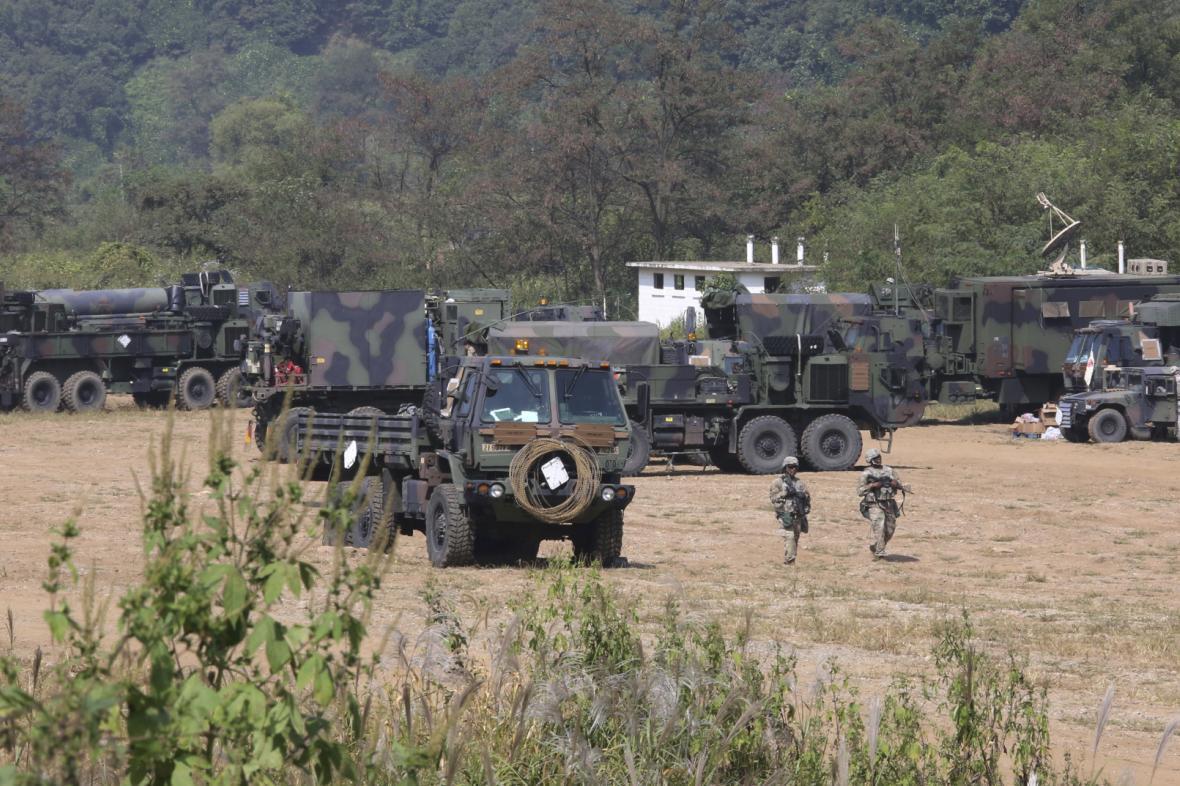 Americko-jihokorejské vojenské cvičení na Korejském poloostrově
