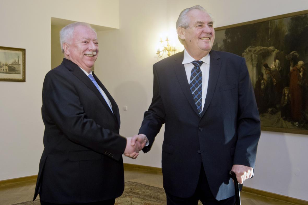 Miloš Zeman a Michael Häupl