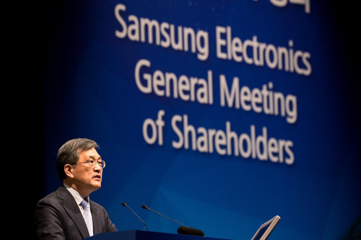 Šéf Samsungu Electronics Kwon O-hjon
