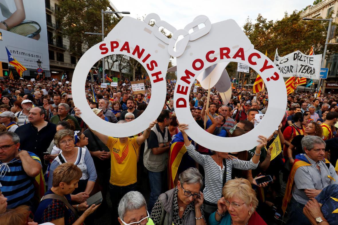 Barcelonský protest