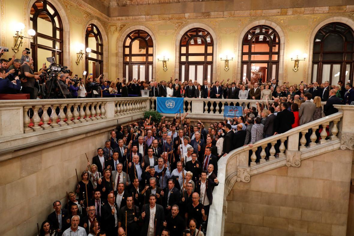 Ceremonie v katalánském parlamentu