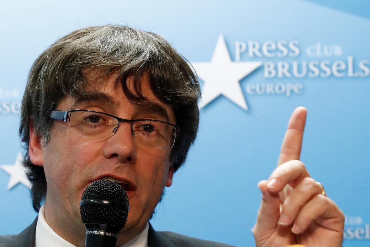 Carles Puigdemont v Bruselu