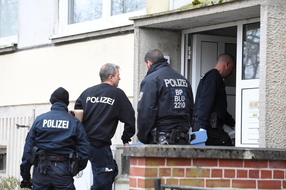 Zásah německé policie ve Schwerinu