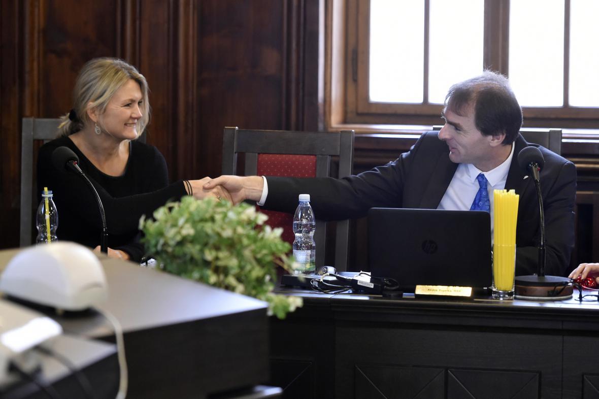 Jana Mayerová a Radek Popelka