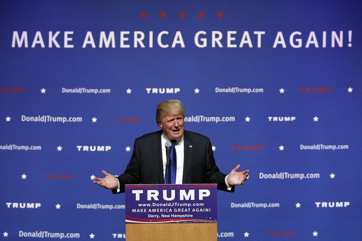 Donald Trump během předvolební kampaně