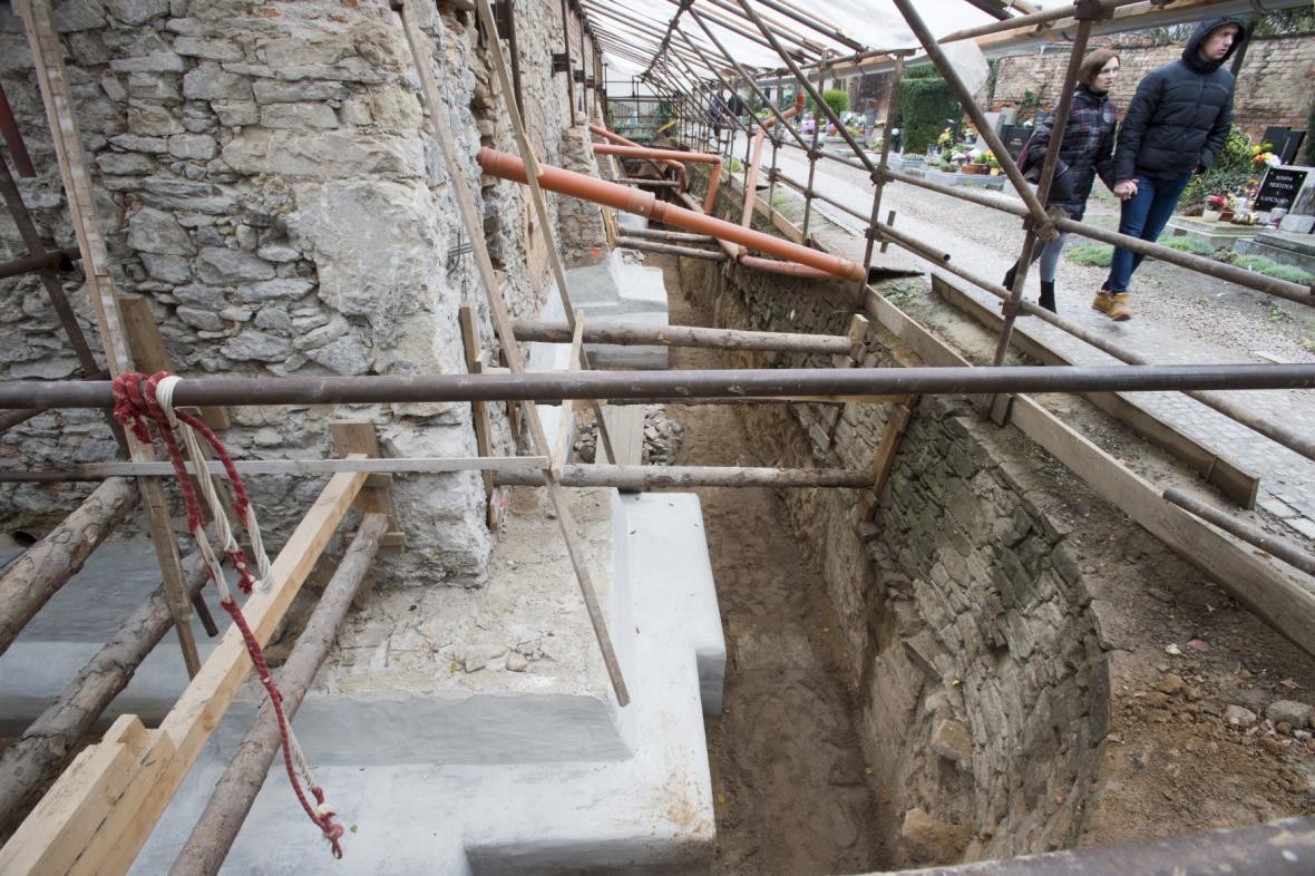 Archeologický průzkum u kostela Všech svatých