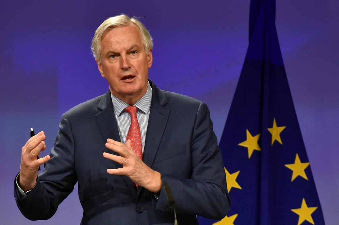 Unijní vyjednávač Michel Barnier