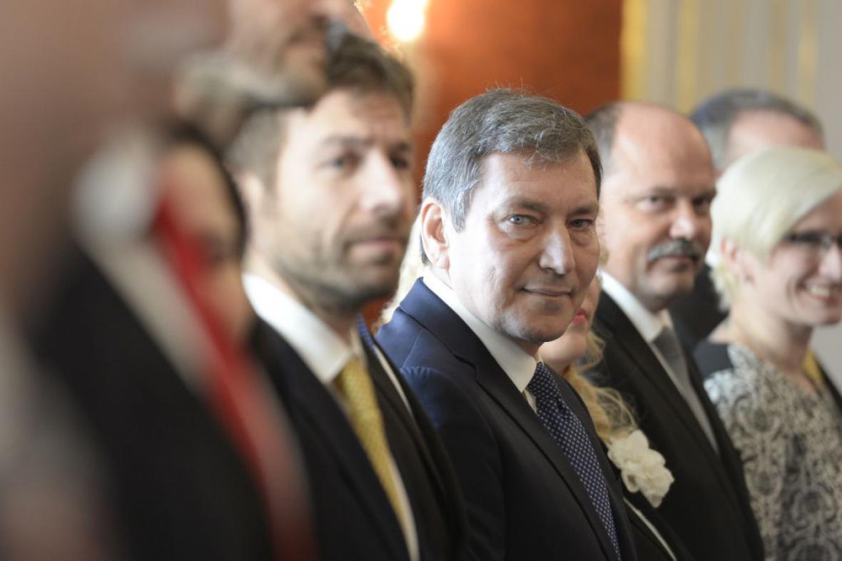 Robert Pelikán, Tomáš Hüner, Jiří Milek a Karla Šlechtová