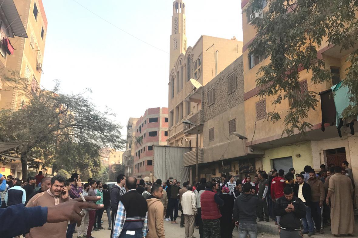 Útok u kostela v Káhiře