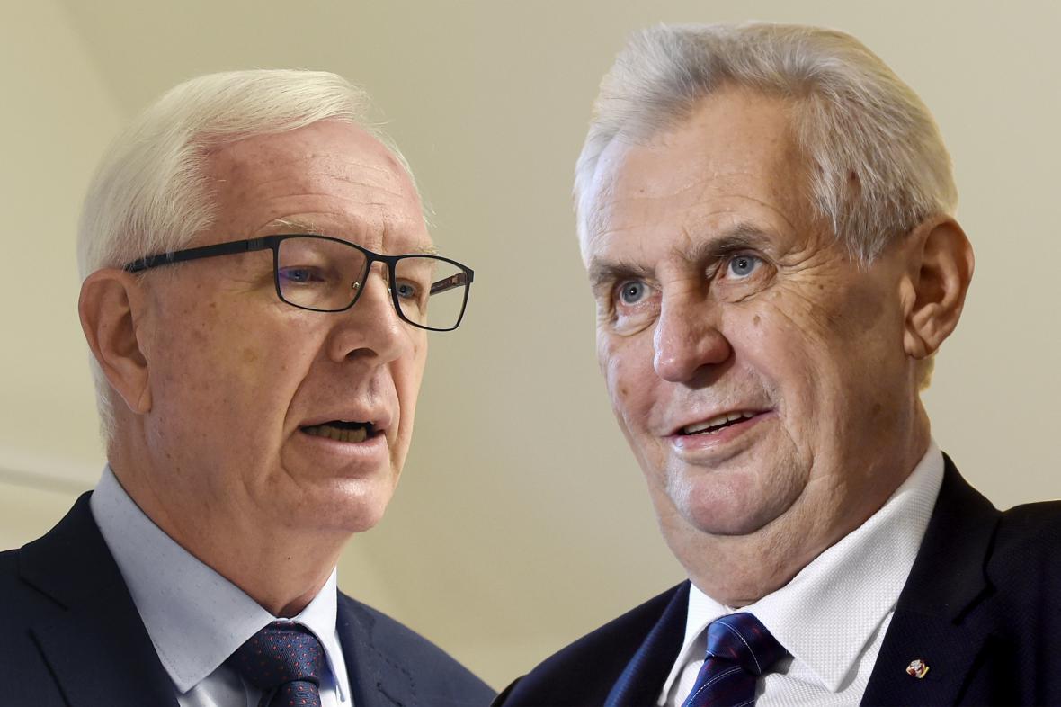 Jiří Drahoš a Miloš Zeman