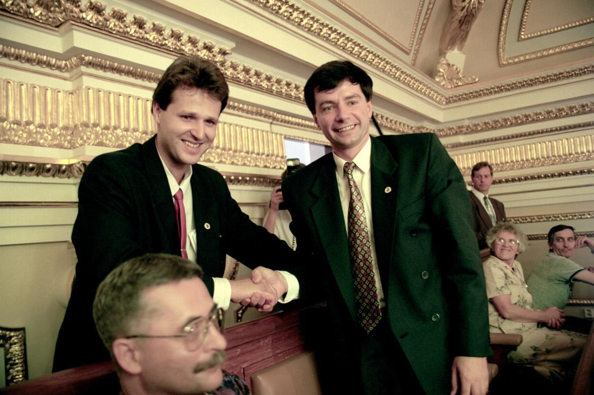 Jan Vik s Miroslavem Sládkem