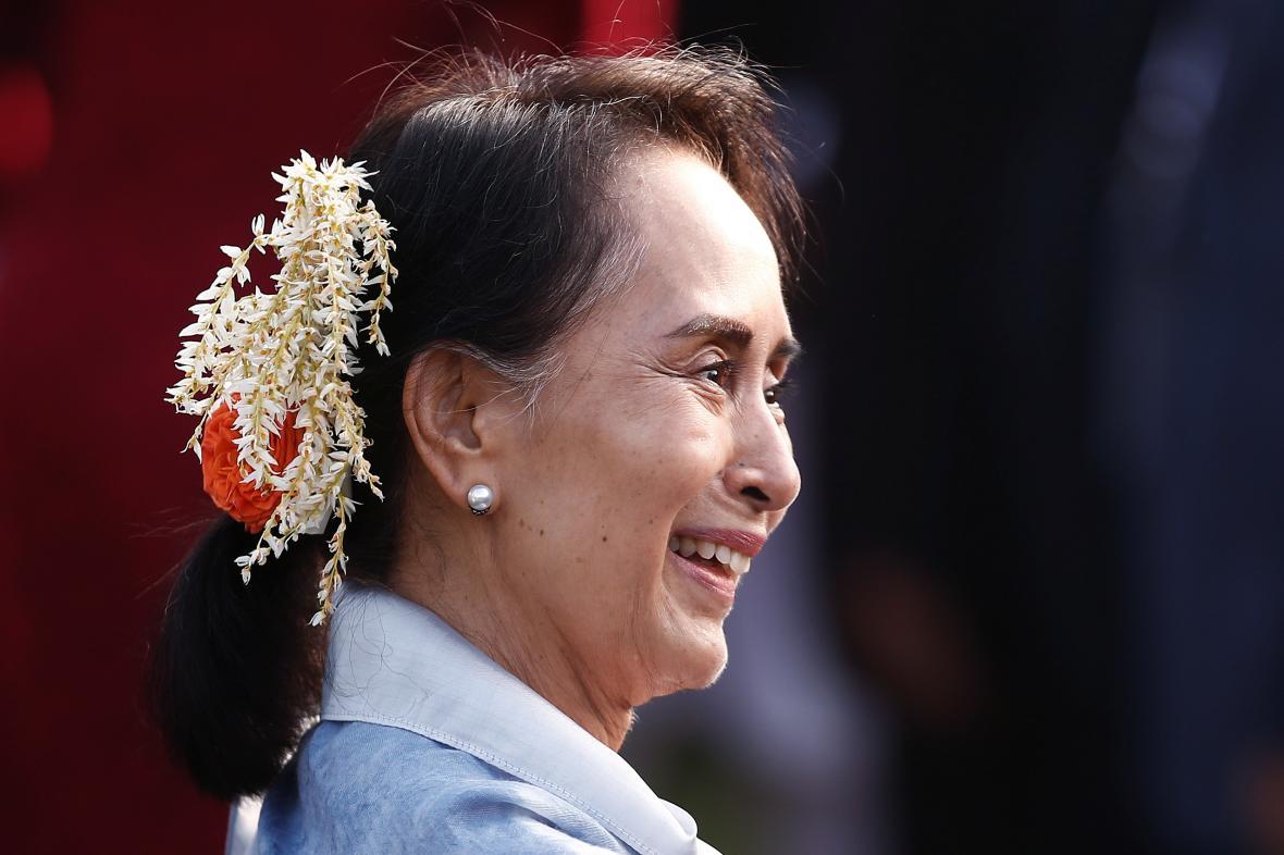 Myanmarská vůdkyně Su Ťij